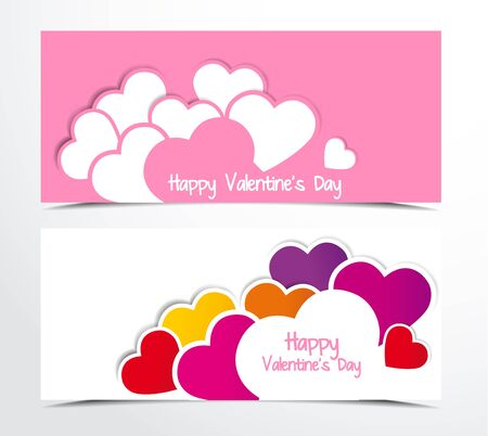 two color background with hearts Stock Vector - 17170360