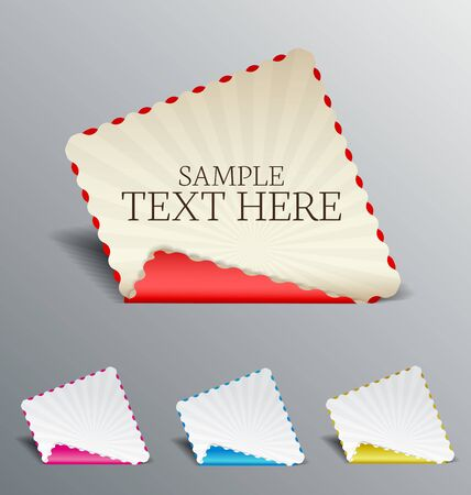 set banners with place for text Stock Vector - 17337483