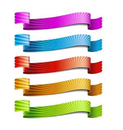 colored ribbons, isolated on white background Stock Vector - 17337482