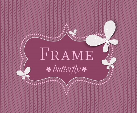frame with butterflies on a colored background Stock Vector - 17337498