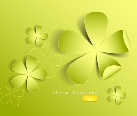 Abstract design background with leaves