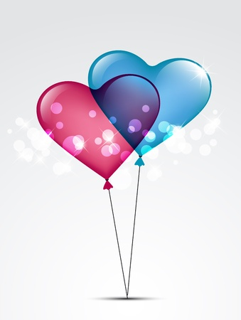 two balloons from the heart Stock Vector - 17467202