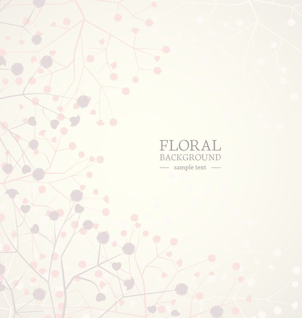 Beautiful flowers background with place for text Stock Vector - 17576469