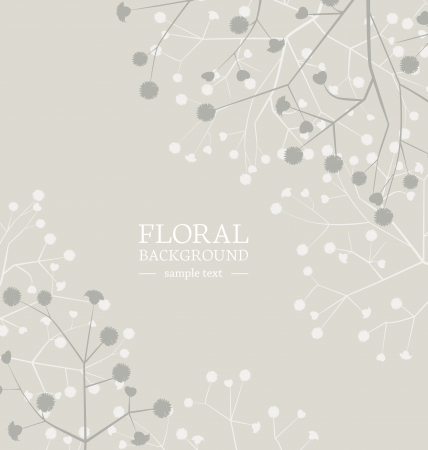 Beautiful flowers background with place for text Stock Vector - 17576468