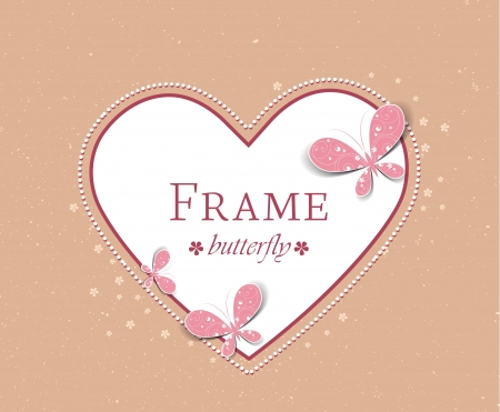 decoration frame with butterflies on the background Stock Vector - 17576484