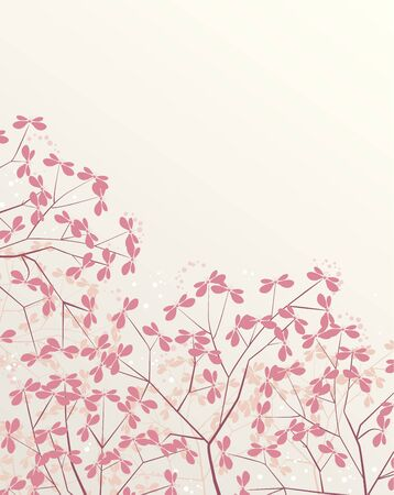 floral background with place for text Stock Vector - 17576487