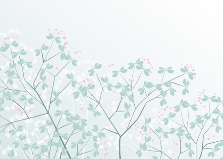 floral background with place for text Stock Vector - 17576489