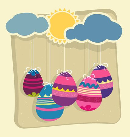 Easter eggs on spring background Stock Vector - 17757462