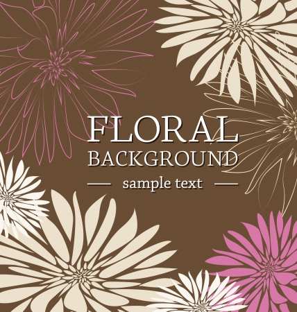 greeting card floral with place for text Stock Vector - 17757458