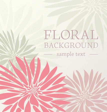 greeting card floral with place for text Vector