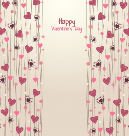 Valentines day background with hearts  Stock Vector - 17757468