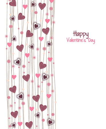 Valentines day background with hearts  Stock Vector - 17757466