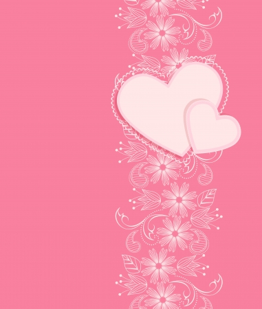 vector decoration heart on a pink background Stock Vector - 17757465
