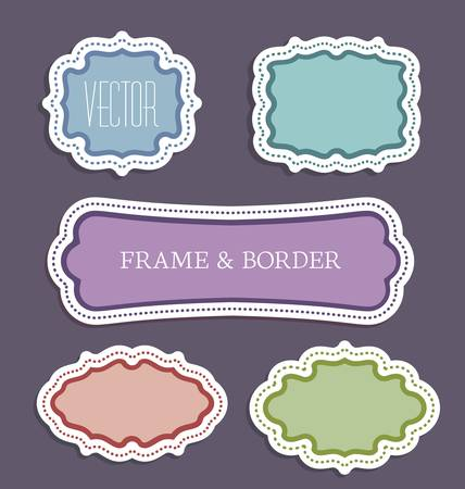 illustration of a decorative colorful frame set Stock Vector - 17757471