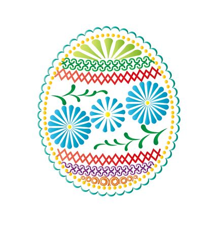 Easter eggs with patterns on white background Stock Vector - 17858884