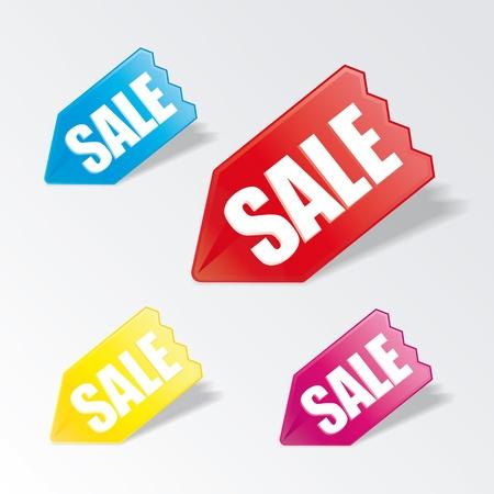Vector arrow stickers set for sale Stock Vector - 17858899