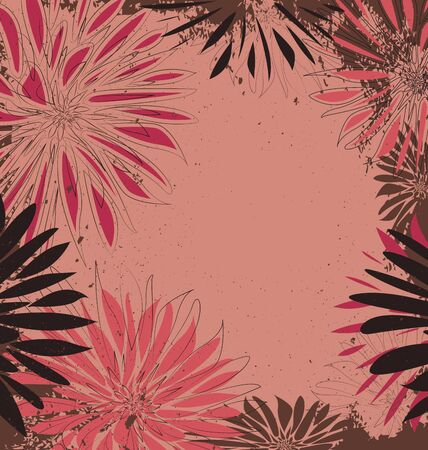 flowers on a grunge background with place for text Stock Vector - 17991356
