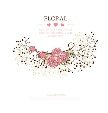flowers on a white background with place for text Stock Vector - 17991353