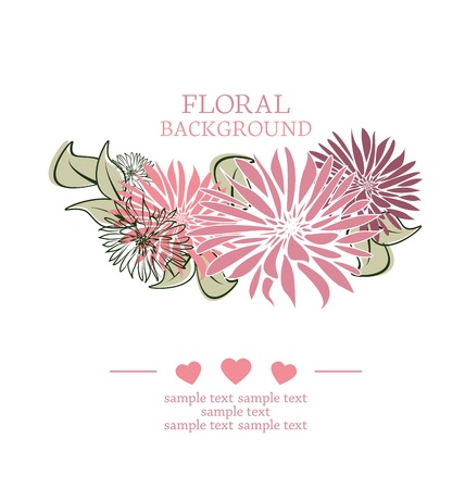 flowers on a white background with place for text Stock Vector - 17991351
