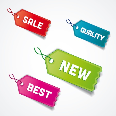 set of tags pro sale, best, quality Stock Vector - 17991355