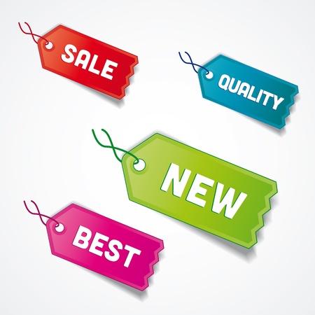 set of tags pro sale, best, quality Stock fotó - 17991355