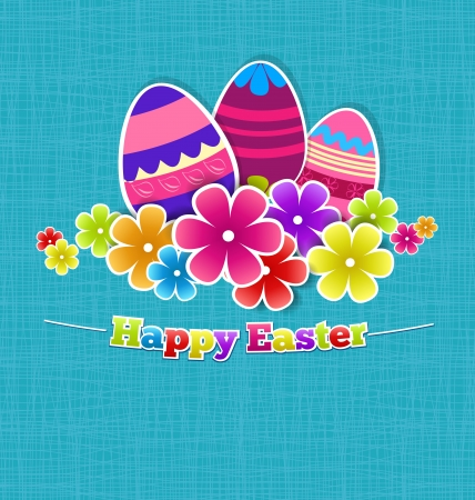 easter background with eggs Stock Vector - 18130262