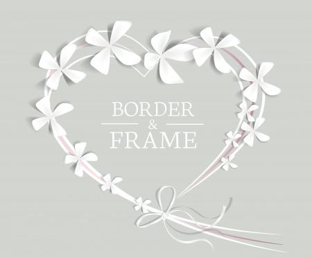 Corazón con las flores y el lugar de texto Foto de archivo - 18170519