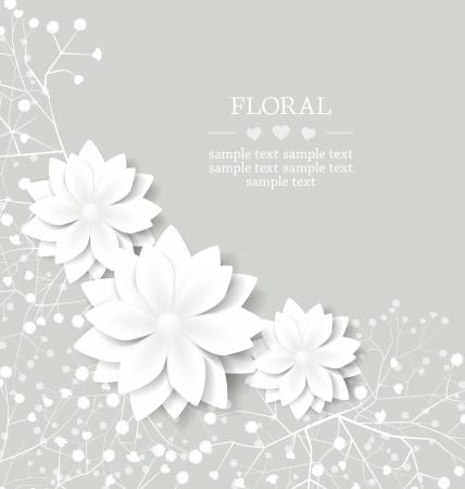 boda: boda floral tarjeta con lugar para el texto Vectores