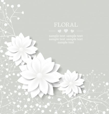 mothers: wedding floral card with place for text