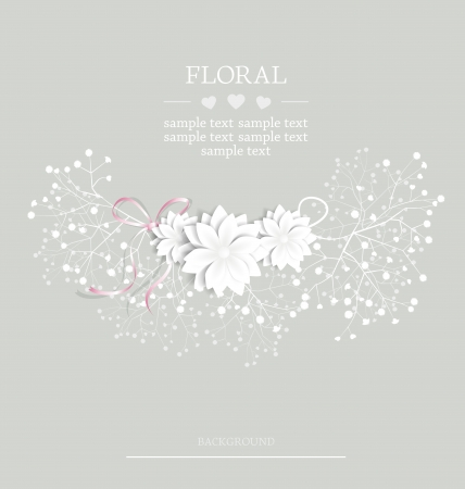 wedding floral card with place for text Stock fotó - 18306764