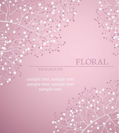 artwork backdrop: greeting card floral with place for text