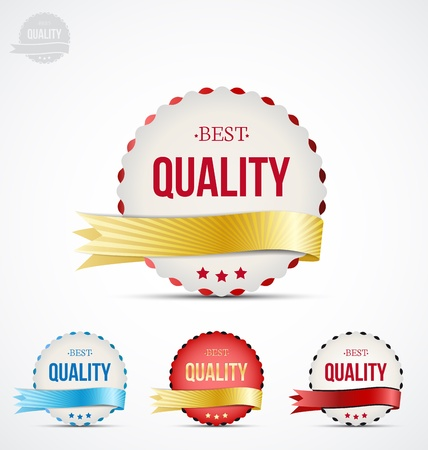 set of colorful badge of quality