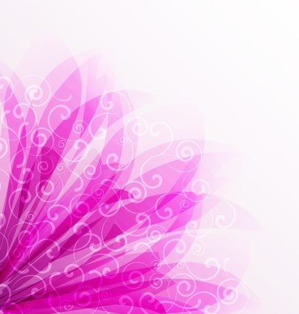 Abstract colorful background with purple flowers Vector