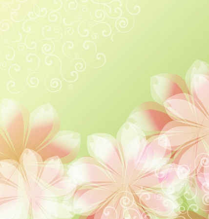 Abstract floral background with place for text Stock Vector - 19620951