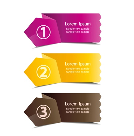 background  number options banner, info graphics options Vector