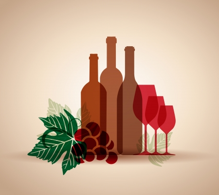 multiple image: wine background for web or print