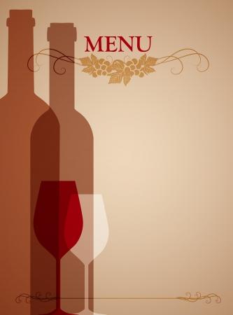 bouteille de vin: fond de vin pour le web ou print Illustration