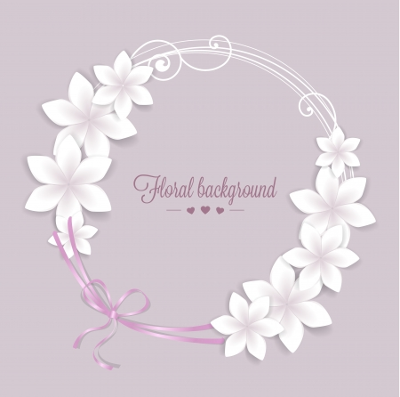 floral elements: greeting card floral with place for text