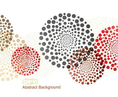 円で抽象的なカラフルな装飾  イラスト・ベクター素材