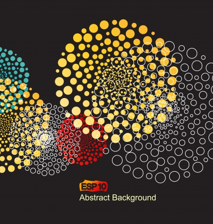 abstract colorful decorations with a circles Illustration