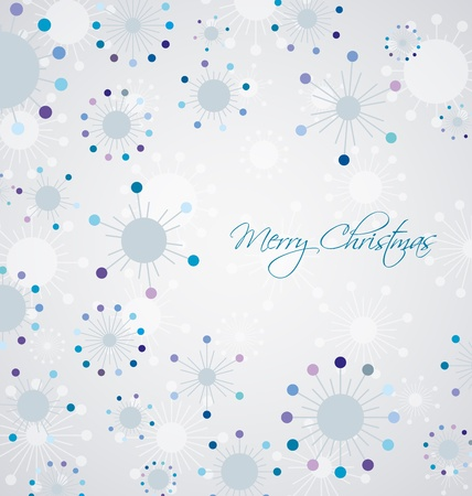 illustration background with snowflakes Stock Vector - 20625396