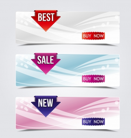 web banners for sale and advertisement  Vector