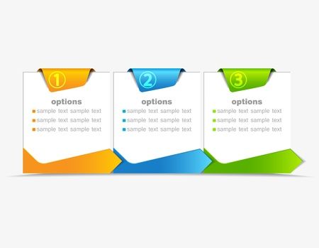 vector design template with  numbered banners