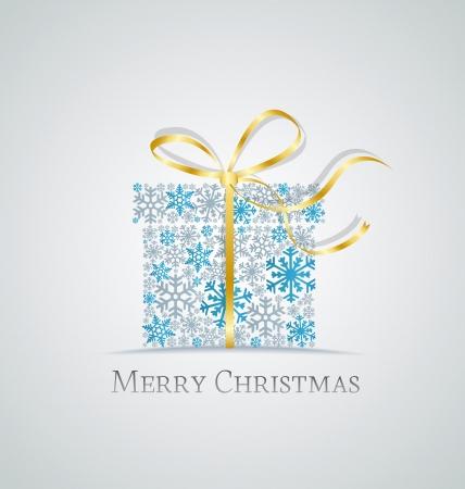 Regalo de Navidad caja hecha de los copos de nieve Foto de archivo - 21470268