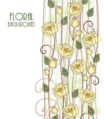 gele rozen: Decoratie gele rozen met plaats voor tekst