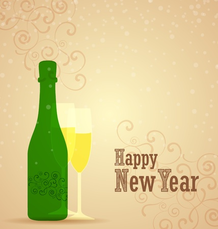 Retro background for happy new year Stock Vector - 21944526