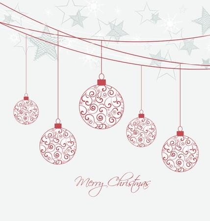 Kerst achtergrond met kerstballen