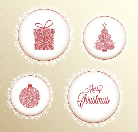 Christmas background with snowflakesChristmas decoration Vector