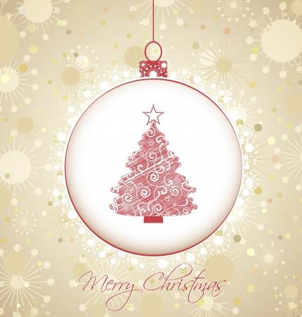 Weihnachten Hintergrund mit Schneeflocken Baumschmuck Standard-Bild - 22175102