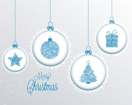 Christmas background with snowflakes Christmas decoration Vector